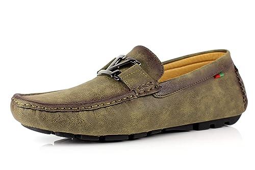 Jas Hombre Informal Mocasines Mocasines Deslizarse Conducción Moderno Zapatos Tallas RU 6 a 12: Amazon.es: Zapatos y complementos