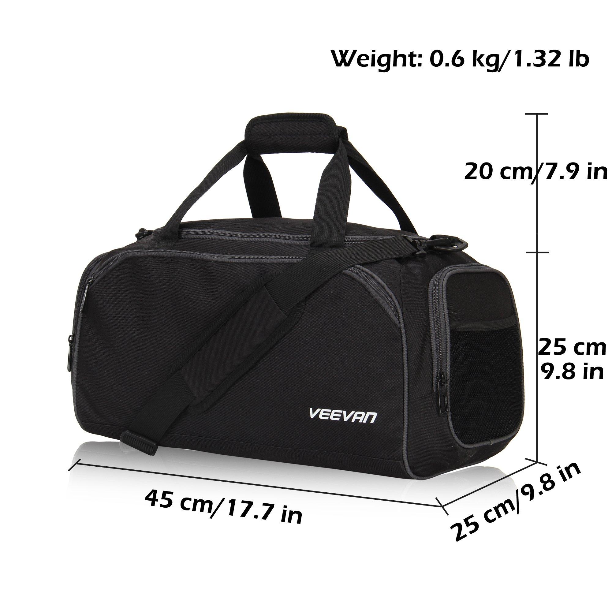 f79b1705f2f0 Galleon - Veevanpro 18 Inch Small Gym Bag Travel Sports Duffel Bag Carry On  Black