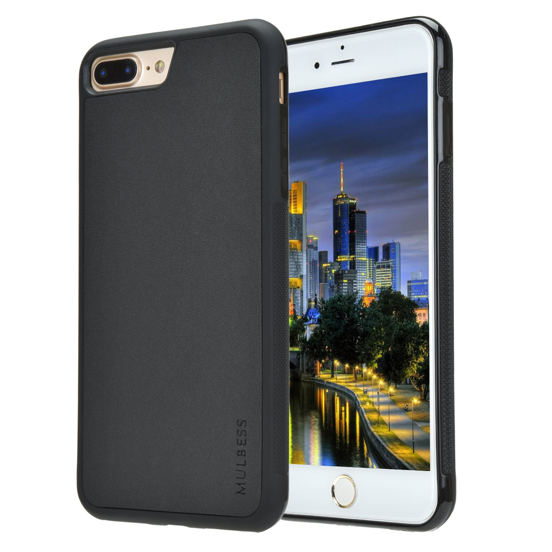 Mulbess Slim Funda para iPhone 8 Plus Carcasa Ligera Silicona Suave TPU Gel Case Cover de Protecci/ón Antideslizante Funda iPhone 7 Plus Caso para iPhone 8 Plus Negro Anti-Rasgu/ño Anti-Golpes