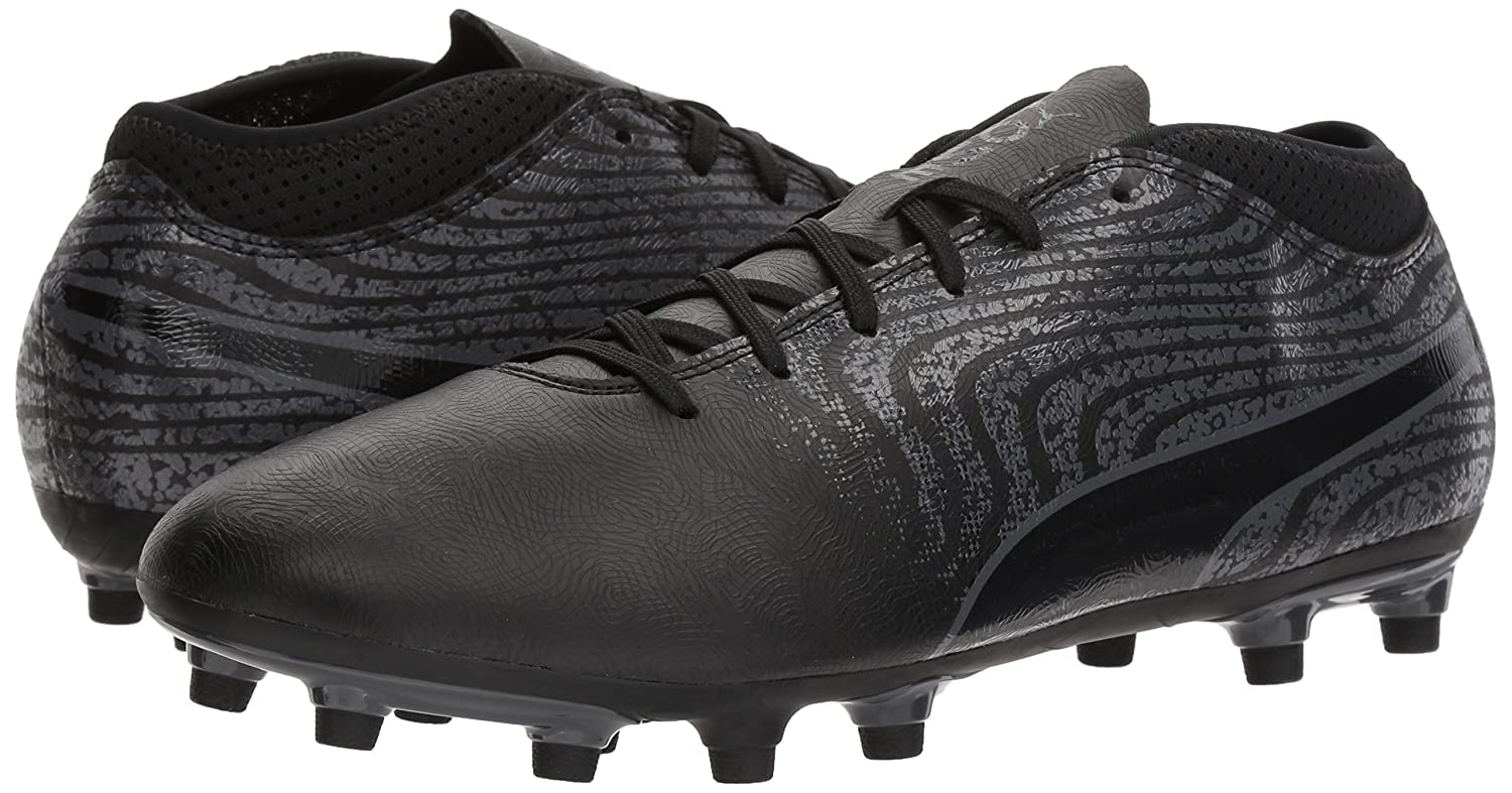 Puma One 18.4 FG 10455602 Mens Black Low Top Athletic Soccer Cleats Shoes