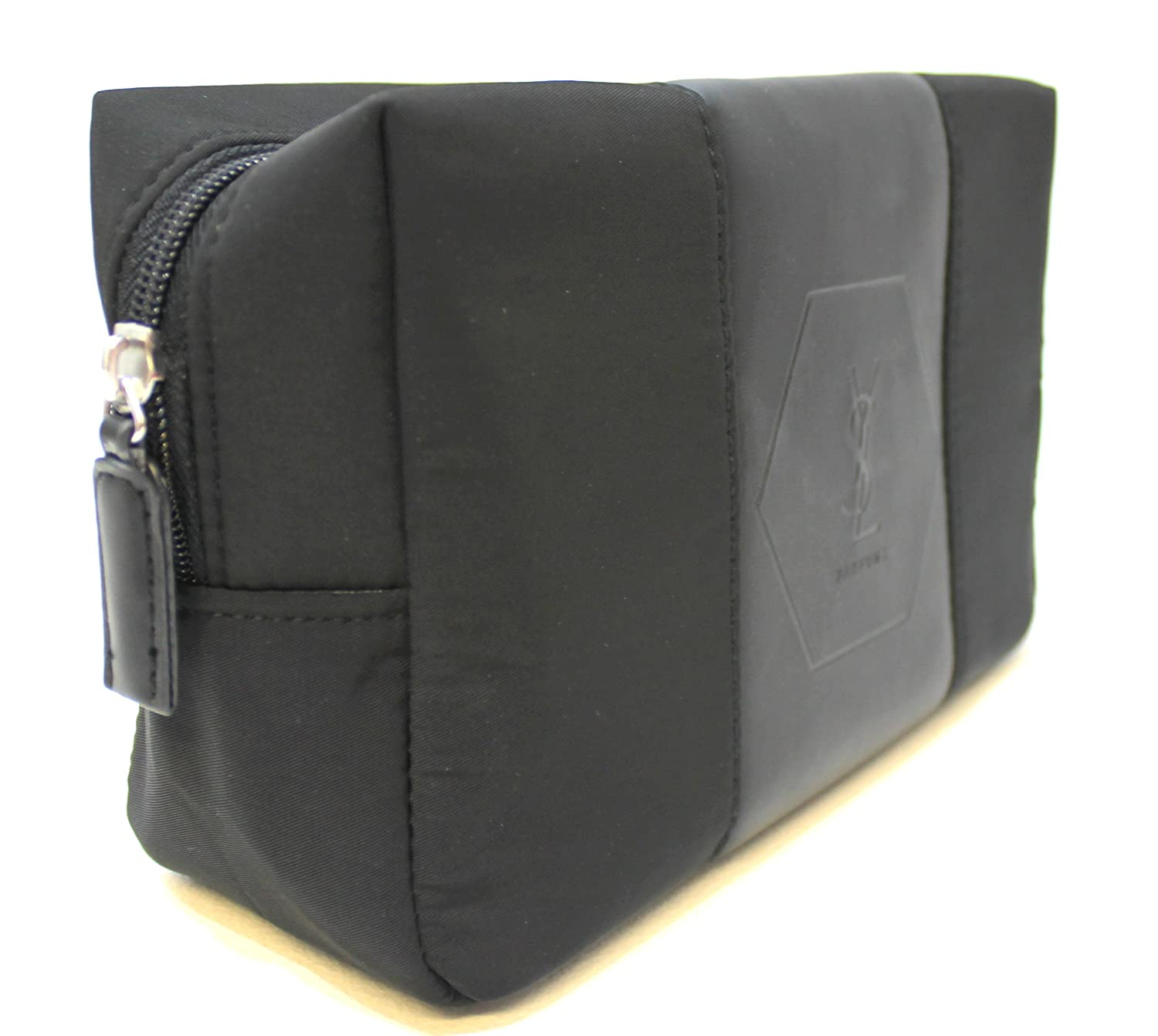 5c65e8688785 YSL - Yves Saint Laurent parfums blac pouch   toiletry   wash bag for men    new  Amazon.co.uk  Luggage