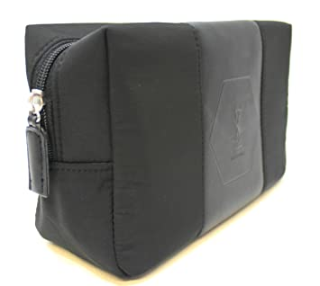 5acfadeb21 YSL - Yves Saint Laurent parfums blac pouch / toiletry / wash bag for men *  new: Amazon.co.uk: Luggage