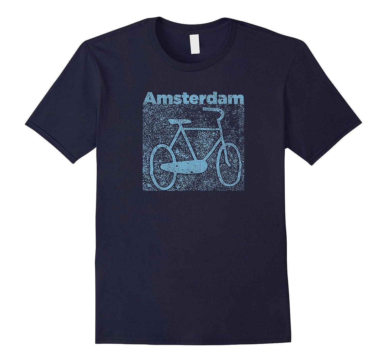 Amsterdam Bike Parking Stone Print Shirt-TJ