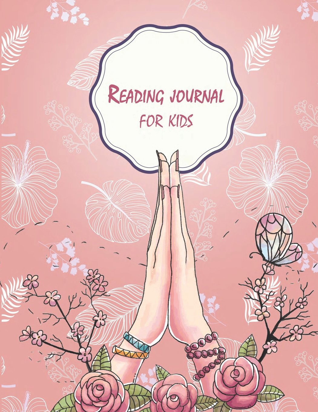 """Download Reading journal for kids: Pretty Pink Floral,  Book Reading Planner, Reading Log Book, Portable Book Reading Report, Summer Reading Journal 120 pages 8.5x11"""" PDF"""