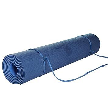 Umi. Essentials Yoga Mat Colchoneta Yoga Antideslizante Eco TPE Extra Suave con Double Capas (Azul, 1830×660×6mm)