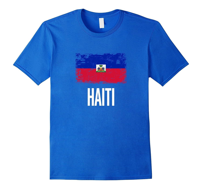 Haiti Flag Distressed Logo Haitian Pride T-Shirt-TH