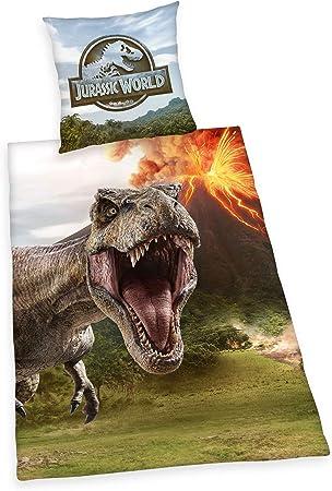 Herding Jurassic World - Juego de Funda nórdica y Funda de Almohada (algodón, Multicolor, 80 x 80 cm, 135 x 200 cm): Amazon.es: Hogar