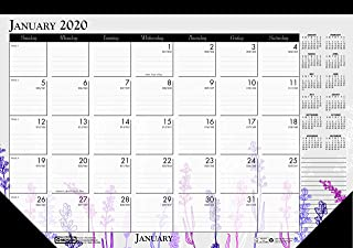 product image for House of Doolittle 2020 Monthly Desk Pad Calendar, Wildflower, 22 x 17 Inches, January - December (HOD197-20)