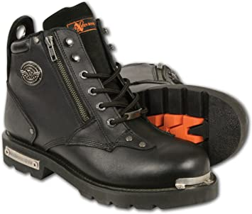 Milwaukee Mens Classic Motorcycle Boots Black, Size 15