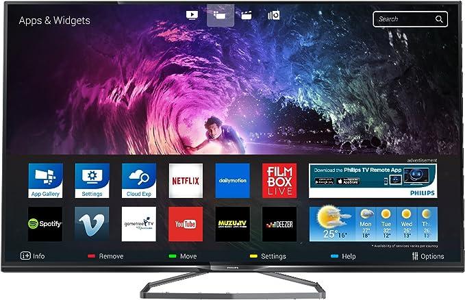 Philips 6800 Series 50PUS6809 50 4K Ultra HD Compatibilidad 3D Smart TV WiFi Negro - Televisor (4K Ultra HD, A+, 4:3, 16:9, Negro, 3840 x 2160 Pixeles, PMR (Tasa de Las tecnologías Motion)): Amazon.es: Electrónica