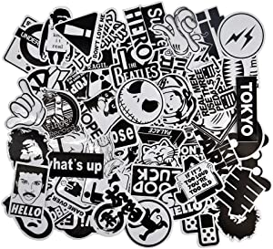 Dr.Qiiwi Random Sticker 100pcs Vinyl Cool Stickers for Adult, Men, Women with Jdm Style Bumper Stickers for Motorcycle Helmet Car Waterproof Skateboard Luggage Laptop Decal Graffiti Patches
