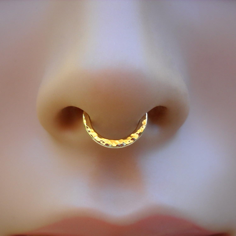 Amazon Com Septum Ring Hammered Conch Daith Piercing Septum