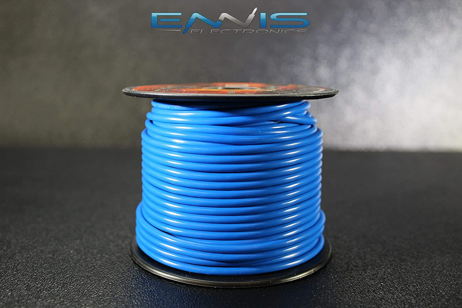 14 GAUGE WIRE BLUE BY ENNIS ELECTRONICS 100 FT SPOOL PRIMARY AUTOMOTIVE AWG COPPER CLAD