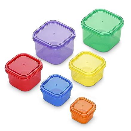 GranRosi Set 6 pezzi, contenitori colorati sottovuoto. Contenitori ...