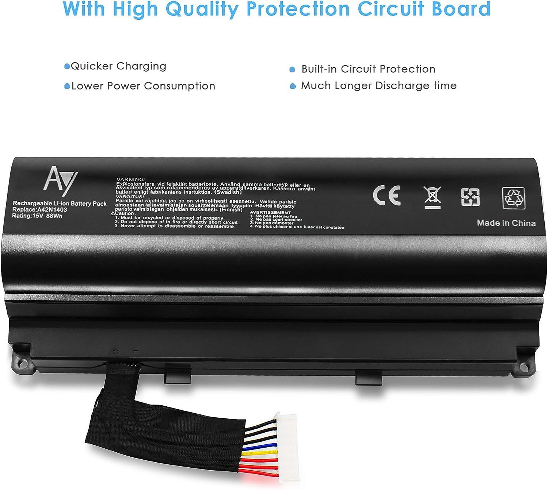 AYIPE ASUS A42N1403 Batería [15V, 88Wh] para ASUS ROG G751J ...