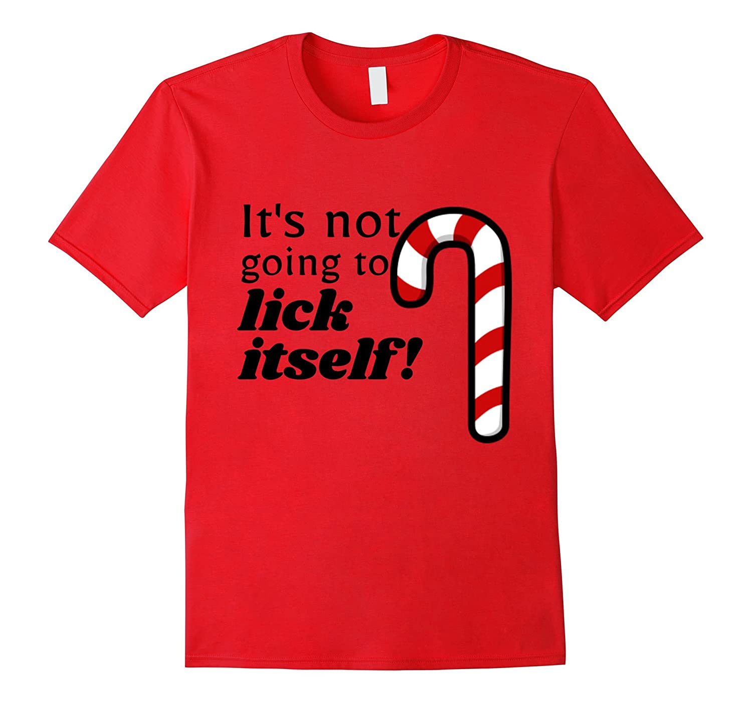 Christmas Adult Funny Candy Cane Lick T-Shirt Humor-Rose