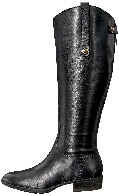 Sam Edelman Women's Penny 2 Wide Shaft Black/Basto Dye Lea W 9IvjE7