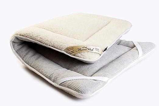 avec /élastiques aux coins 90 x 190 cm Merino Wool Couvre-matelas en laine m/érinos