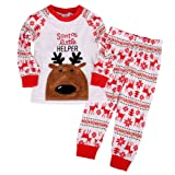 Amazon Price History for:Flying Reindeer Toddler Kid Boys Girls Christmas Pjs Long Sleeve Pajamas Sets