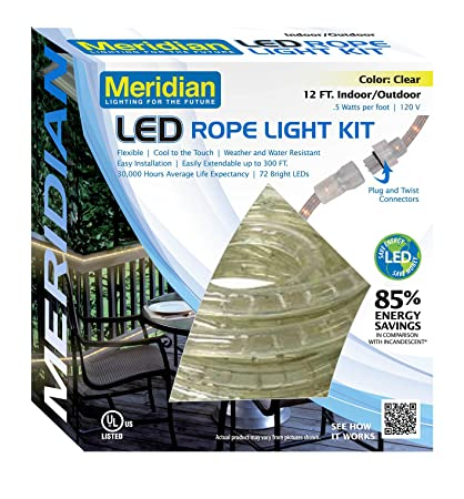 Amazon meridian electric 36912 12 led rope light white home meridian electric 36912 12 led rope light white aloadofball Gallery