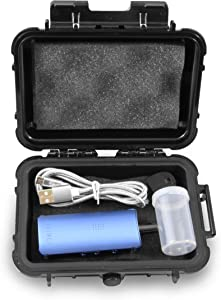 CloudTen 6 inch Smell Odor Proof Case Compatible with Davinci Miqro Dry Herb Portable Oven, Mouthpiece, Charge Cable and Small Accessories, Includes Complimentary Cannister and Case Only