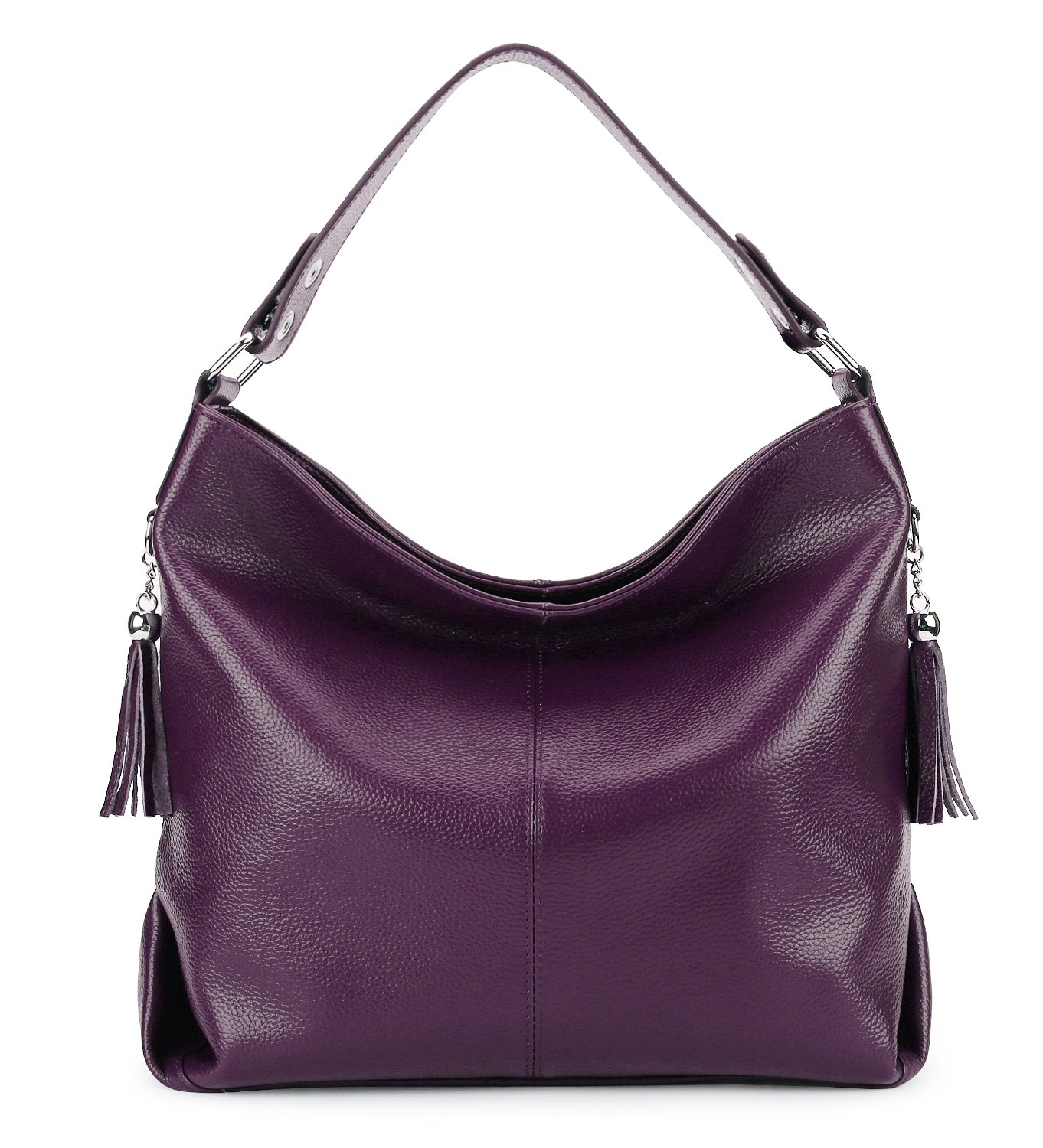 BIG SALE-AINIMOER Womens Leather Vintage Shoulder Bag Ladies Handbags Tote Top-handle Purse Cross Body Bags (Purple)