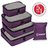 Packing Cubes 5pcs Set Travel Accessories Organizers Versatile Travel Packing Bags
