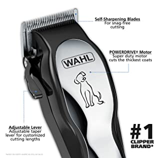 Wahl Pet-Pro Dog Grooming Kit - Quiet Heavy-Duty Electric Dog Clipper for Dogs & Cats with Thick & Heavy Coats