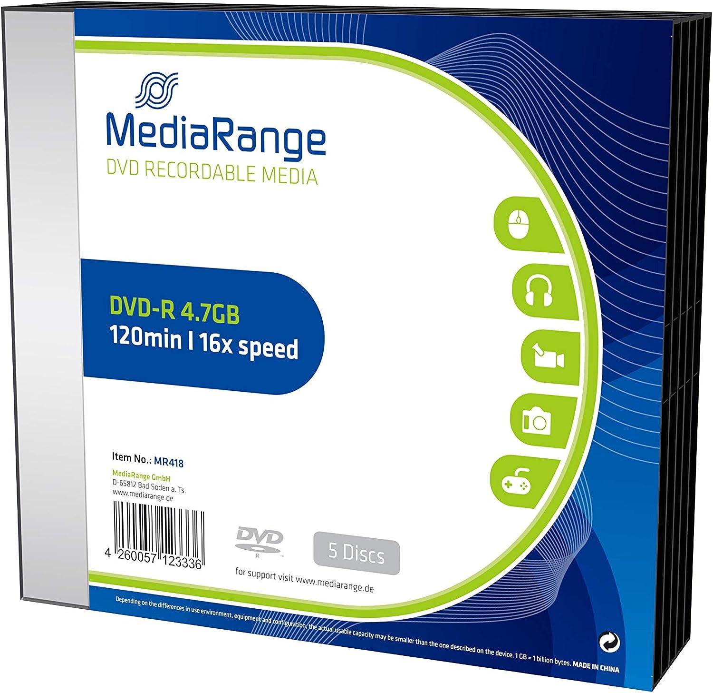 Mediarange Mr418 Slimcase Dvd R Rohlinge Computer Zubehör
