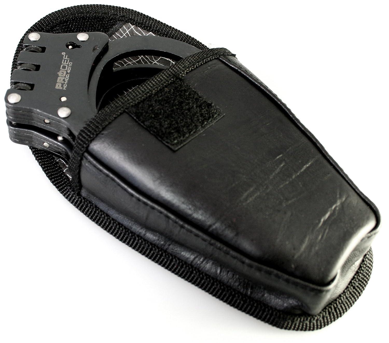 PRODEF Color Negro Mate Esposas 40110-BS Bisagra Ancha Acero endurecido, Incluye Funda para cintur/ón