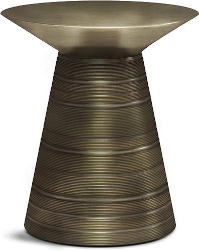 SIMPLIHOME Sheridan Accent Metal Table
