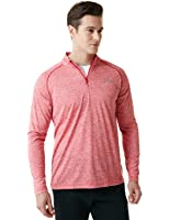 Tesla Men's 1/4 Zip Cool Dry Active Sporty Shirt MKZ01