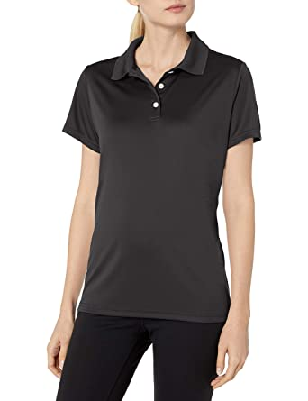 Hanes Polo Cool Performance DRI para mujer deportivo, negro, peque ...