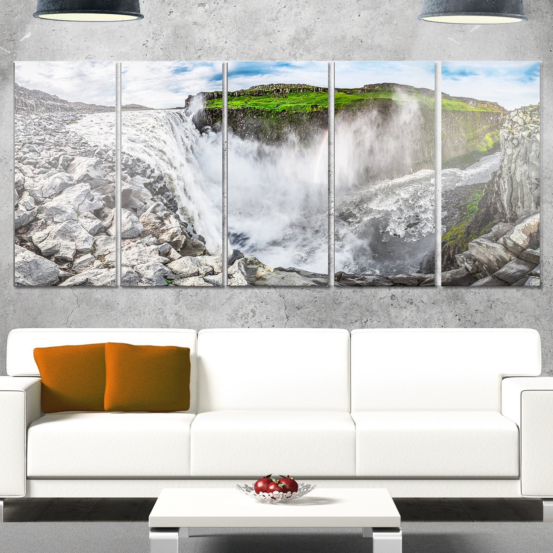 Designart MT11255-373 Metal Wall Art 60x32-5 Panels Diamond Shape Red