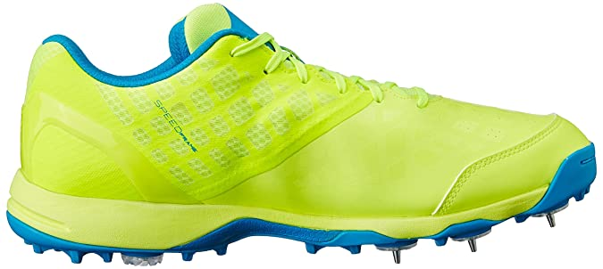 6ecc28ec2b2 Puma Men s Evospeed Spike 1.4 Safety Yellow and Atomic Blue Cricket Shoes -  9 UK India (43 EU)  Buy Online at Low Prices in India - Amazon.in