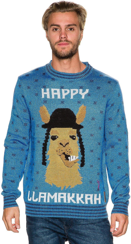 Men\'s Happy Llamakkah Hanukkah Sweater - Jewish Ugly Christmas ...