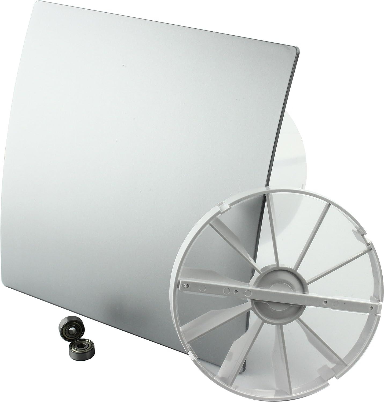 MKK 18155-009 DUO Design Badl/üfter Wandl/üfter Turbo Ventilator R/ückstauklappe Kugellager Nachlauf Timer /Ø 125 mm Hochglanz wei/ß