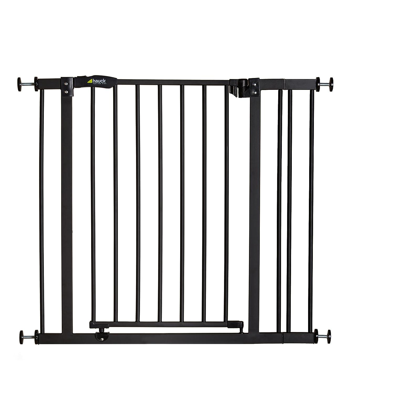 Hauck/Barrière de Sécurité Close N Stop avec Extension de 9 cm/Barrière Porte et Escalier/84 à 89 cm/pour Enfants/pour Chien/Utilisable avec Adaptateur Y-Spindel pour Rampes/sans Perçage/Ouvrable dans les deux Sens