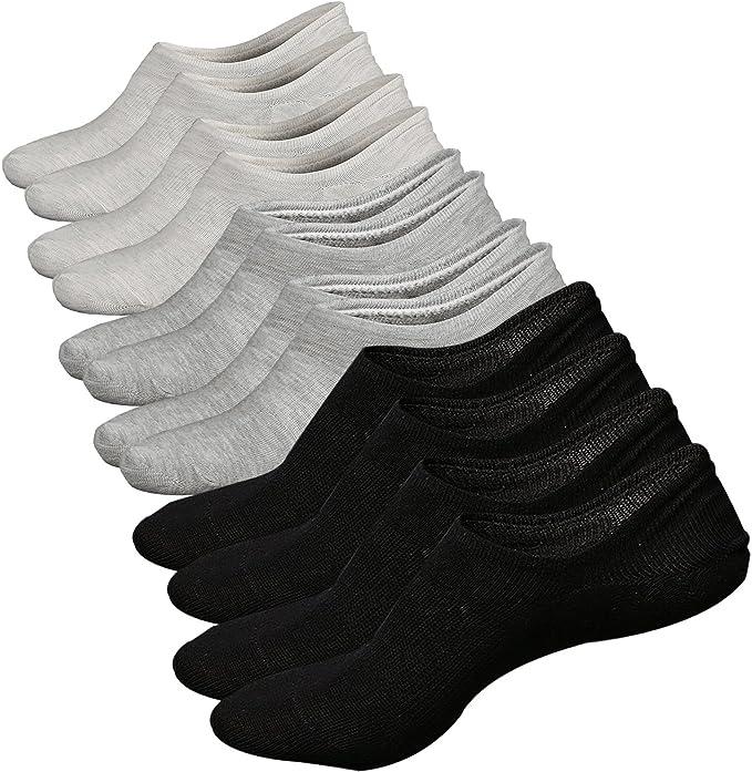 Calcetines Invisibles Mujer de Algodón Calcetines Cortos Elástco ...