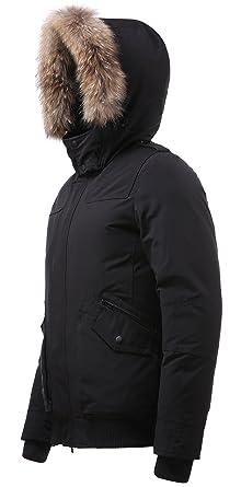 c2c0e77acfc6e Arctic Residents New York Mens Winter Jacket Down Jacket Men (Large, Black)