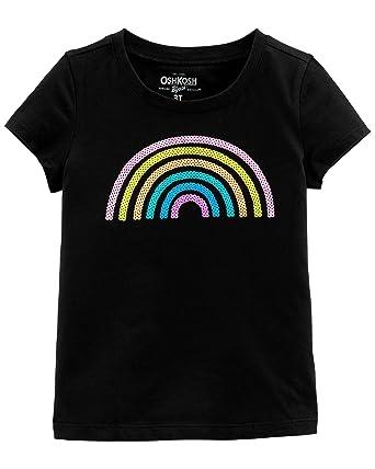 9c4697b65 Amazon.com: OshKosh B'Gosh Girls' Sequin Short Sleeve T-Shirt: Clothing