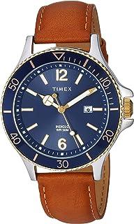 Men's Leather Tanblack Buy Tw2r85700 Timex Basics Strap Watch 43mm PiTlOuwkXZ