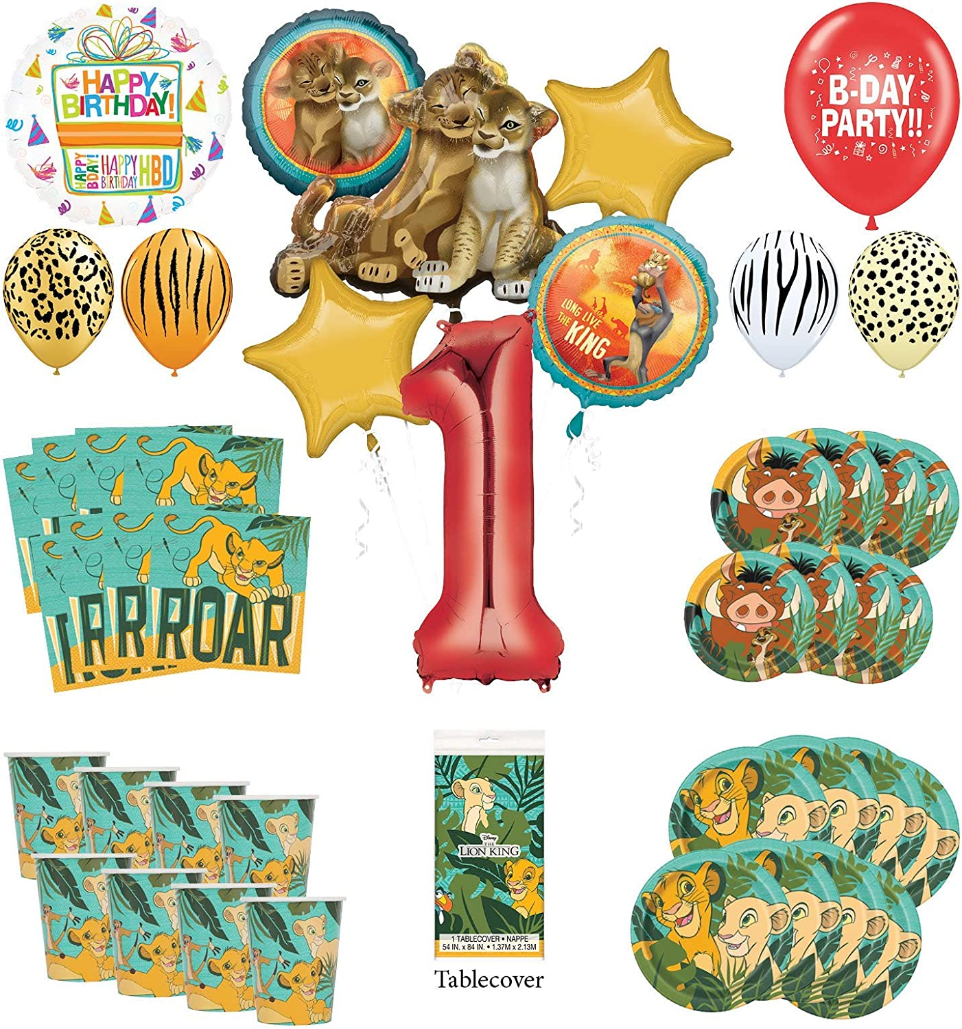 Amazon.com: Lion King - Kit de decoración para fiesta de ...
