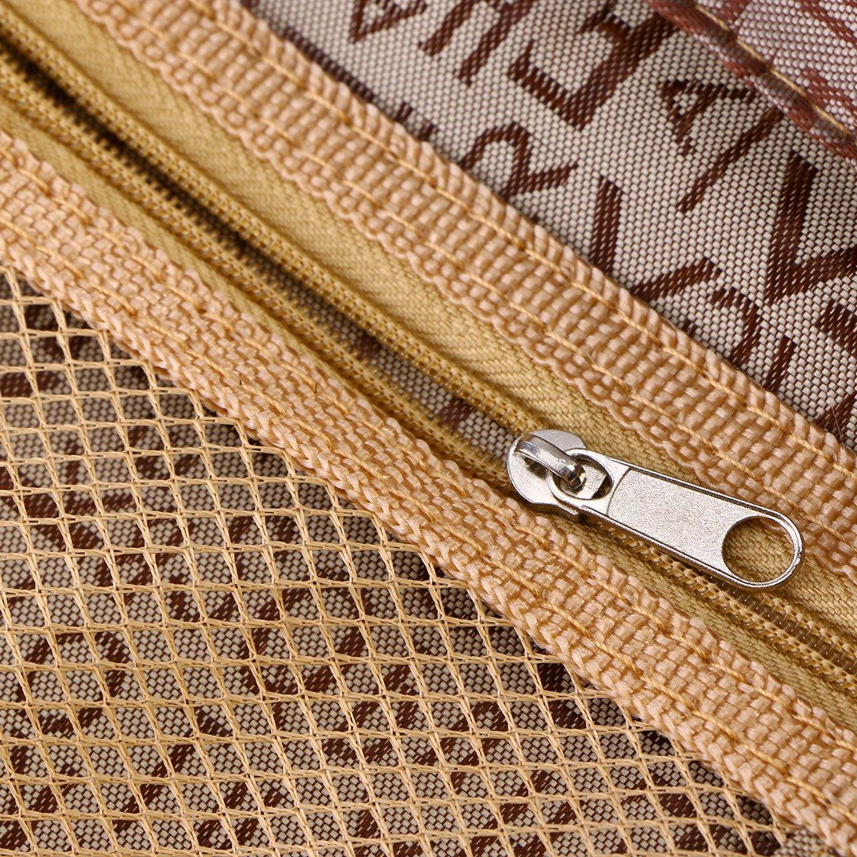 Oxford Cloth Multi-Pocket Back Seat Storage Car Seat Cover Organizer Car Organizer Bag Khaki VORCOOL