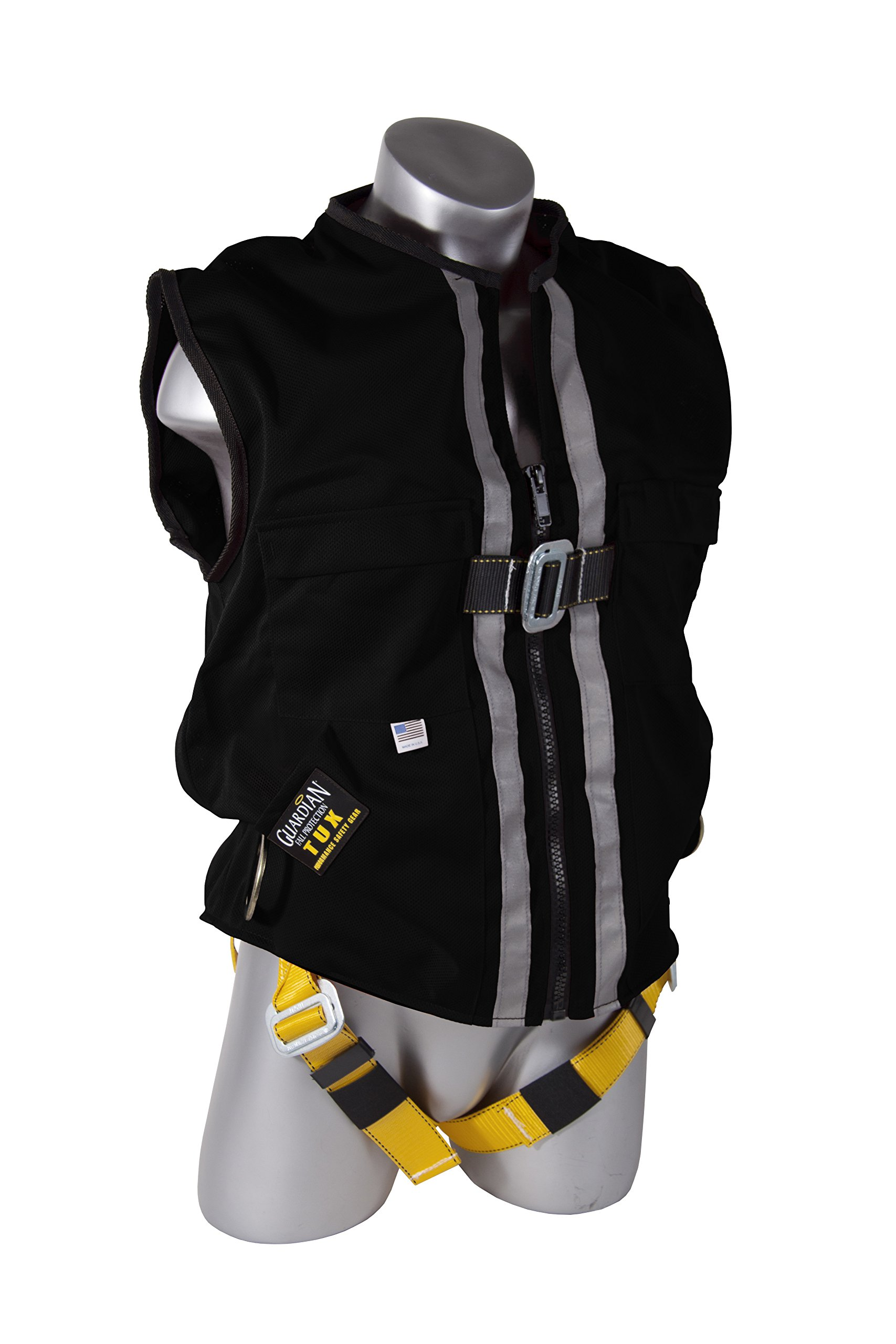 Guardian Fall Protection 02630 Black Mesh Construction Tux Harness, XL