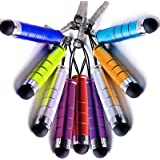 Mini Stylus Pens, [10-Pack] Universal Capacitive Stylus Pen for iPad, iPhone, Tablet, Smartphone, HTC, Tablet pc, Asus Tablets, Advent, Samsung Galaxy, Blackberry Playbook & Phones