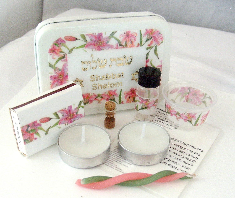 Pink Roses Travel Shabbat Kit