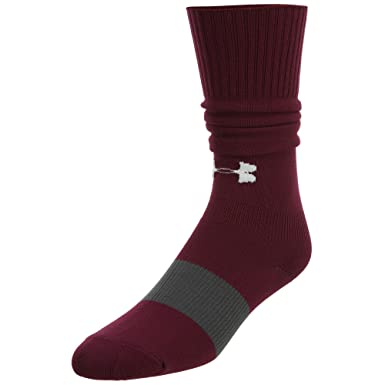 Underarmour juventud fútbol calcetines Big Kids, Granate
