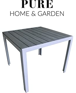 Amazon De Pure Home Garden Aluminium Gartentisch Fire Xl Mit