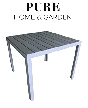 Amazon De Pure Home Garden Aluminium Gartentisch Fire Mit